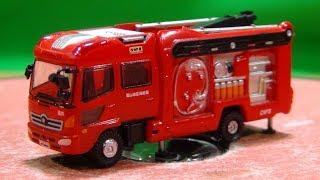 ニッポンの働く車キット 消防車両1「13mブーム付多目的消防ポンプ車MVF(福山地区消防局仕様)」