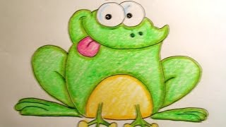 How to draw a Cartoon Toad (Easy Way Drawing)