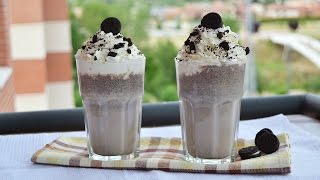 Ice Cream Smoothie - Oreo Vanilla Ice Cream Milkshake - Easy Homemade Oreo Milkshake Recipe