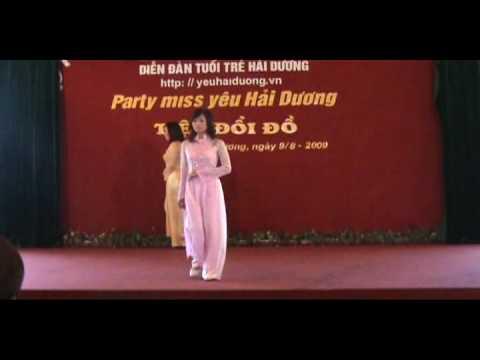 Phần thi áo dài Miss YHD 2009