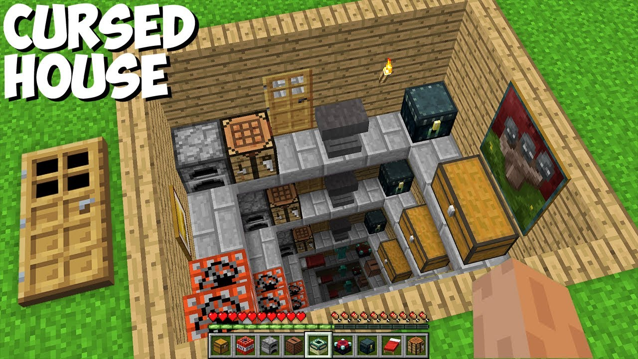 Never ENTER in this ENDLESS DEEP HOUSE in Minecraft ! CURSED HOUSE !