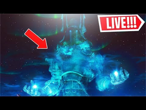 *NEW* The Fortnite ICE STORM Event LIVE! (Map is COVERED in Snow)