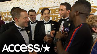 'AGT's' Human Fountains: Watch Access' Own Scott Evans Get In On Their Act On The Red Carpet