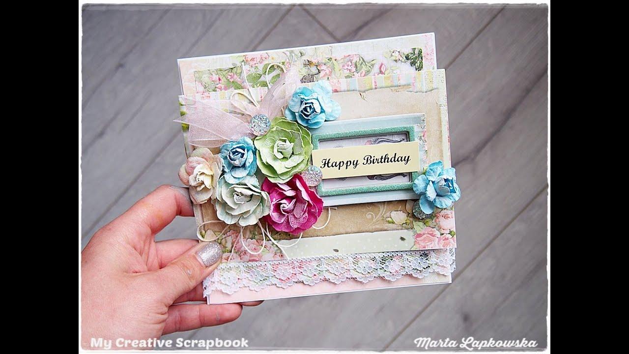 Beginners Shabby Chic Card Tutorial Happy Birthday Maremis