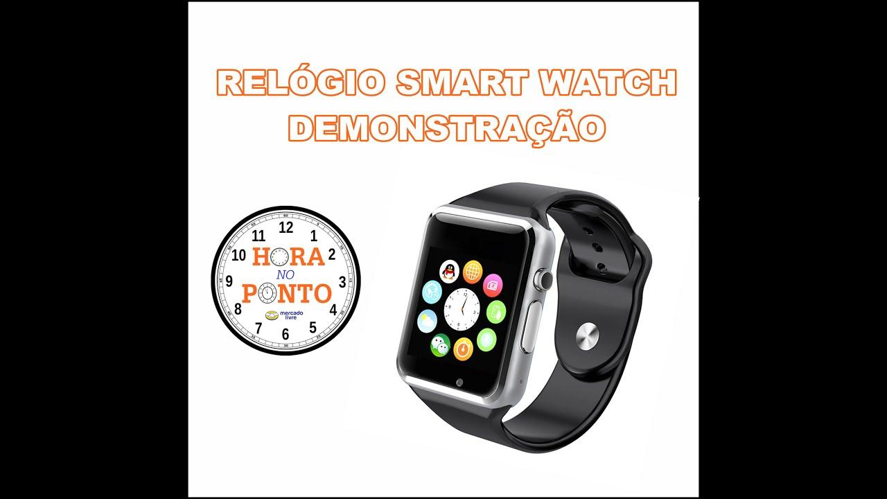0a35d798b8d Relógio Inteligente Smart Watch - Hora no Ponto - YouTube