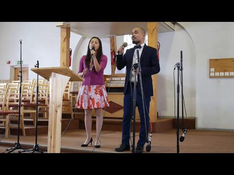 Hannah and Delfred at Tallinn Adventist Church 06 05 2017