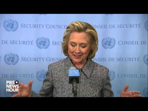 Watch Hillary Clinton comment on email controversy