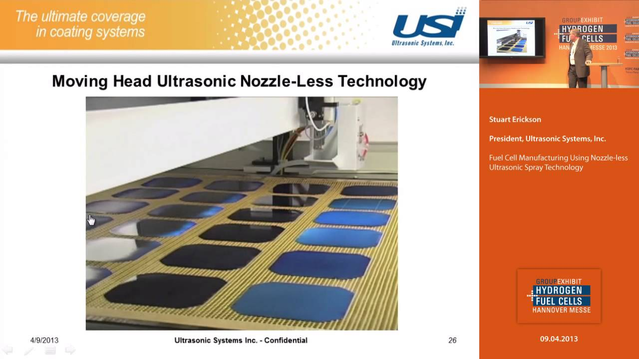 Fuel Cell Manufacturing Using Nozzle-Less Ultrasonic Spray Technology