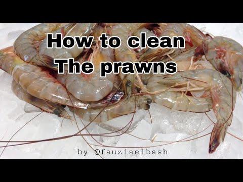 Cara membersihkan udang || How to clean prawns