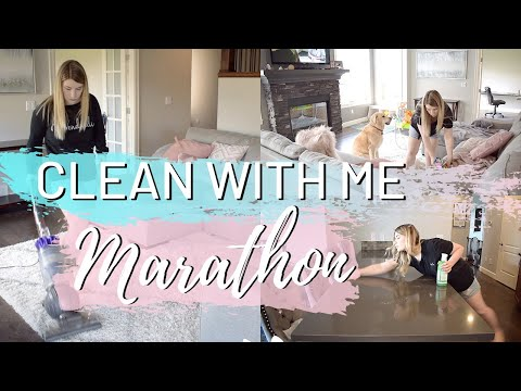 SUMMER CLEAN WITH ME MARATHON // 1 1/2 HOURS OF EXTREME CLEANING MOTIVATION // CLEANING MARATHON