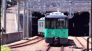 北神急行谷上駅から神戸市営地下鉄6000形が発車