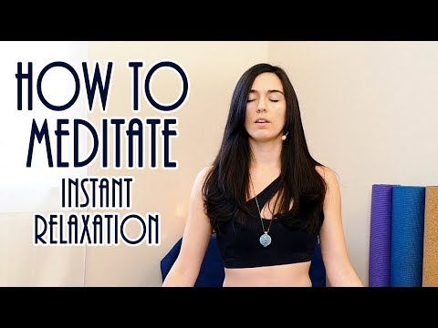 Easy Relaxation & Instant Anxiety Relief ♥ How To Meditate, Calm & Peaceful Guided Meditation