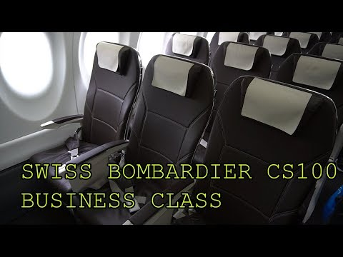 EXCELLENT Swiss Bombardier CS100 Business Class Milan to Zurich + LUFTHANSA LOUNGE
