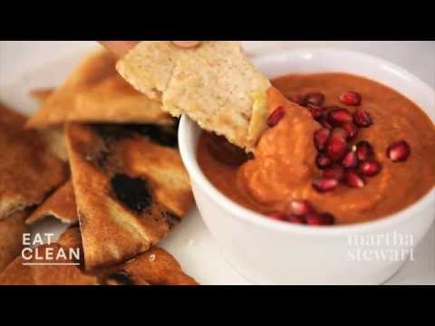 Roasted Red Pepper, Walnut, and Pomegranate Dip Eat Clean with Shira Bocar