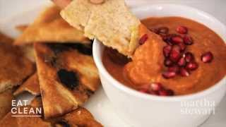 Roasted Red Pepper, Walnut, And Pomegranate Dip - Eat Clean With Shira Bocar