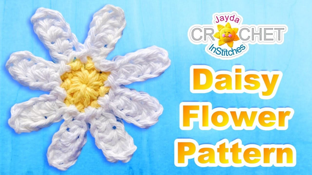 Crochet Flower Pattern Easy Daisy For Beginners Youtube