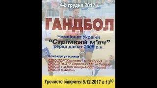 Відбірні зональні ігри чемпіонату України з гандболу 2017.