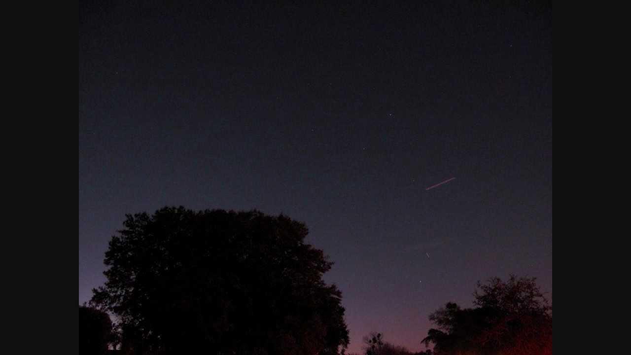 ISS Pass,Orlando,FL,USA,Manualy Tracked 1-5-12