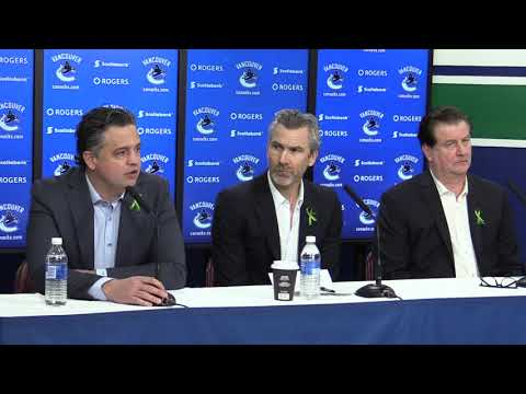 Full press conference: Canucks management end-of-season meeting with media