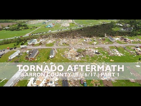 Arial Footage of Barron County Tornado Aftermath | May 16th, 2017