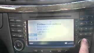 WRECKING 2003 MERCEDES E CLASS RADIO/SAT NAV UNIT, W211 (J12831 SATNAV)