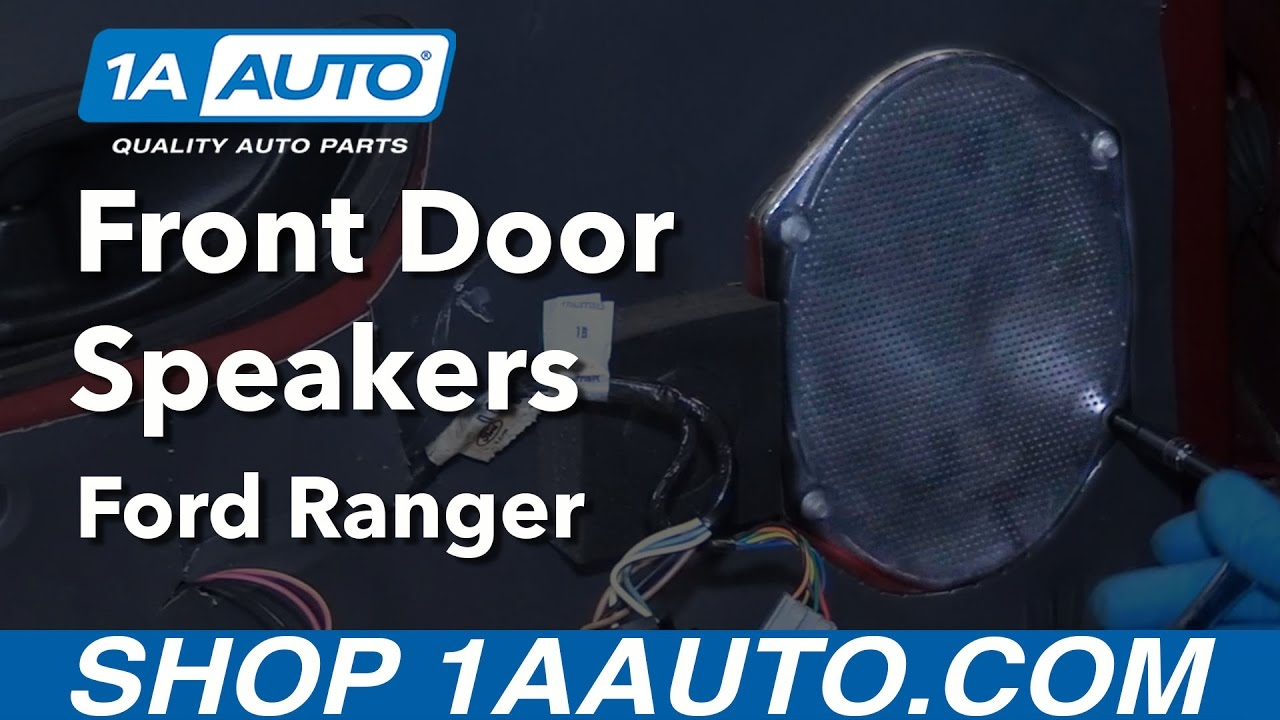 How to Replace Front Door Speakers 01 Ford Ranger - YouTube