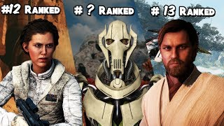 EVERY STAR WARS BATTLEFRONT 2 HERO AND VILLAIN RANKED FROM WORST TO BEST (UPDATED)