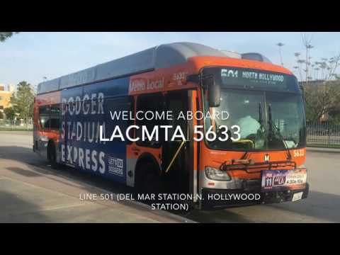 LACMTA 2013 New Flyer XN40 #5633 | Coin Lloyd's Transit Hub