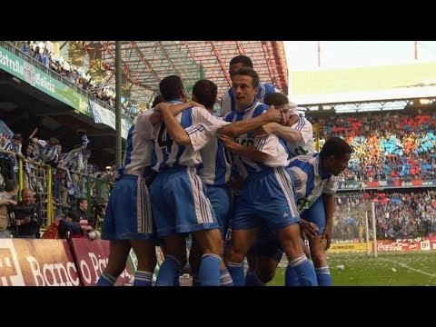 Deportivo campeón de Liga 1999-2000, Deportivo-Español 1er tiempo
