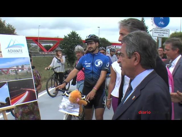 Inauguración Pasarela peatonal-ciclista entre Montaña y Raos