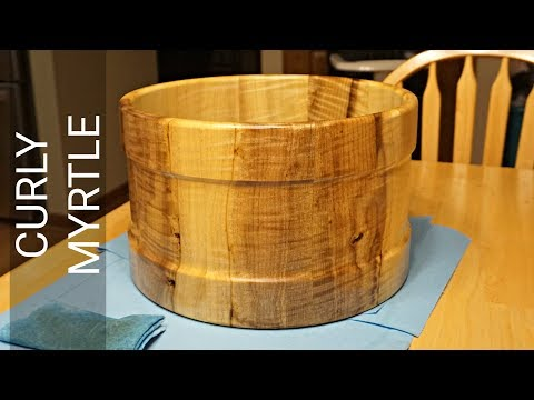 MYRTLE WOOD STAVE SNARE DRUM SHELL