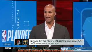 NBA Analysis stunned Nuggets DESTROYS Trail Blazers 124-98 & Raptors knockout 76ers 125-89 | ESPN SC