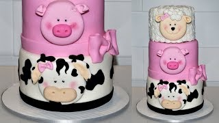 Cake decorating tutorials | how to work make an animal farm cake | Sugarella Sweets