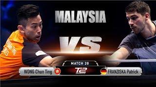 Wong Chun Ting vs Patrick Franziska | T2 Diamond Malaysia (Quarter Finals)