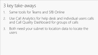 Call quality management for Skype for Business and Microsoft Teams | BRK2010