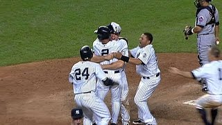 Hear four different broadcasts of the Yankees' win