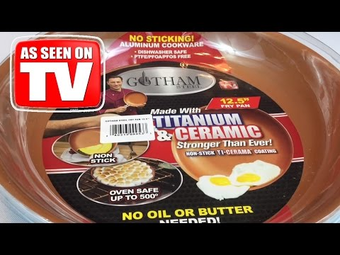 Gotham Steel 9953 Non-Stick Titanium Ceramic 12.5″ Frying Pan – AS SEEN ON TV