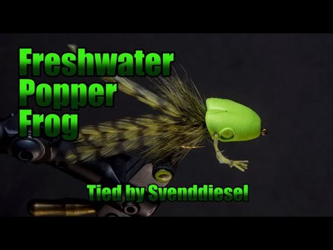 The Freshwater Popper Frog Fly Pattern Tutorial