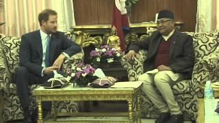 British Prince Harry meets PM Oli