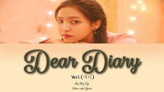 Yeri (예리) - dear diary (스물에게) [station 3] colour coded ...