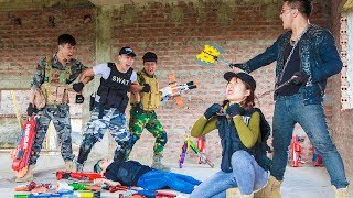 LTT Game Nerf War : Winter Warriors SEAL X Nerf Guns Fight Group Rocket Man Suicide Squad
