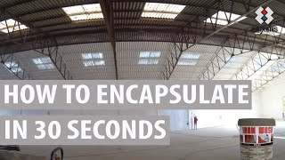 HOW TO ENCAPSULATE A CEMENT-ASBESTOS CEILING IN 30 SECONDS WITH IRON WASH.