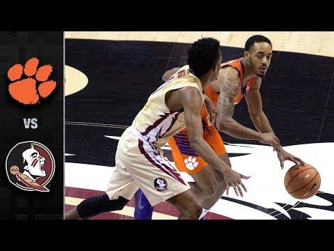 Clemson vs. Florida State Basketball Highlights (2017-18)