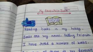 A short and small paragraph on my favourite book in English in online classes for kids of English