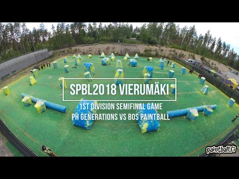 PH Generations vs BOS Paintball - 1st Division Semifinals - SPBL2018 Vierumäki