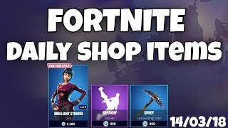 Fortnite - Daily Shop Items (14/03/18 *NEW ANIMATED SKINS!*)