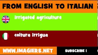 How to say irrigated agriculture in Italian