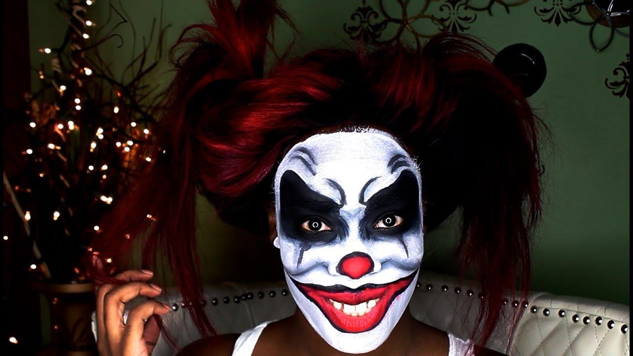 Halloween Makeup Scary Clown - YouTube