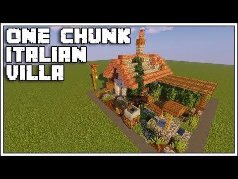 Minecraft 1.14 - Italian Villa [One Chunk Tutorial]