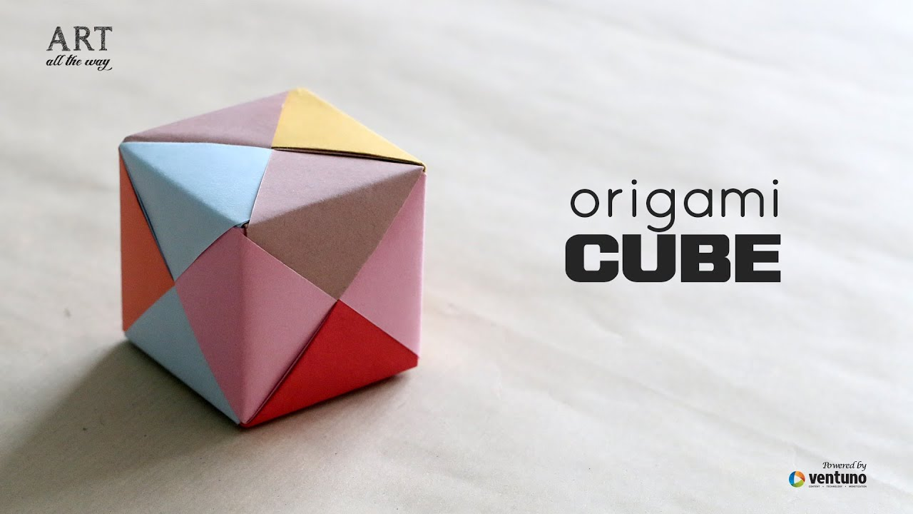 How to fold an diy origami 3d cube youtube for Diy paper origami